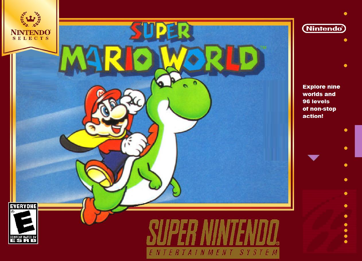 Super Mario World Snes Box Art Nintendo Selects Ver Super Mario