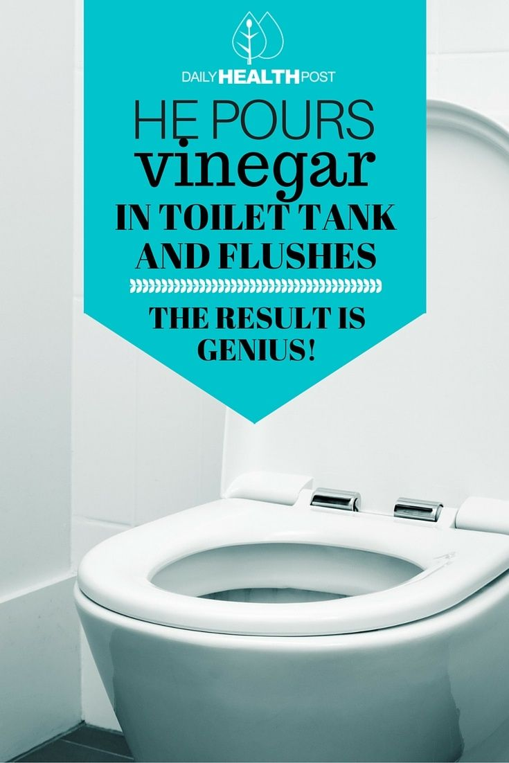 He Pours Vinegar In His Toilet Tank and Flushes. The Result is ...