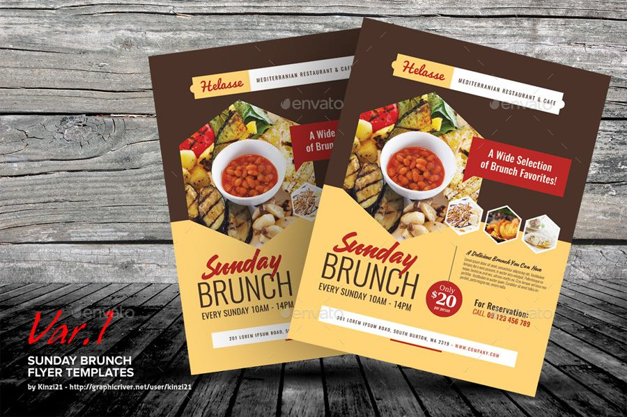 Sunday Brunch Flyer Templates By Kinzi21 Graphicriver