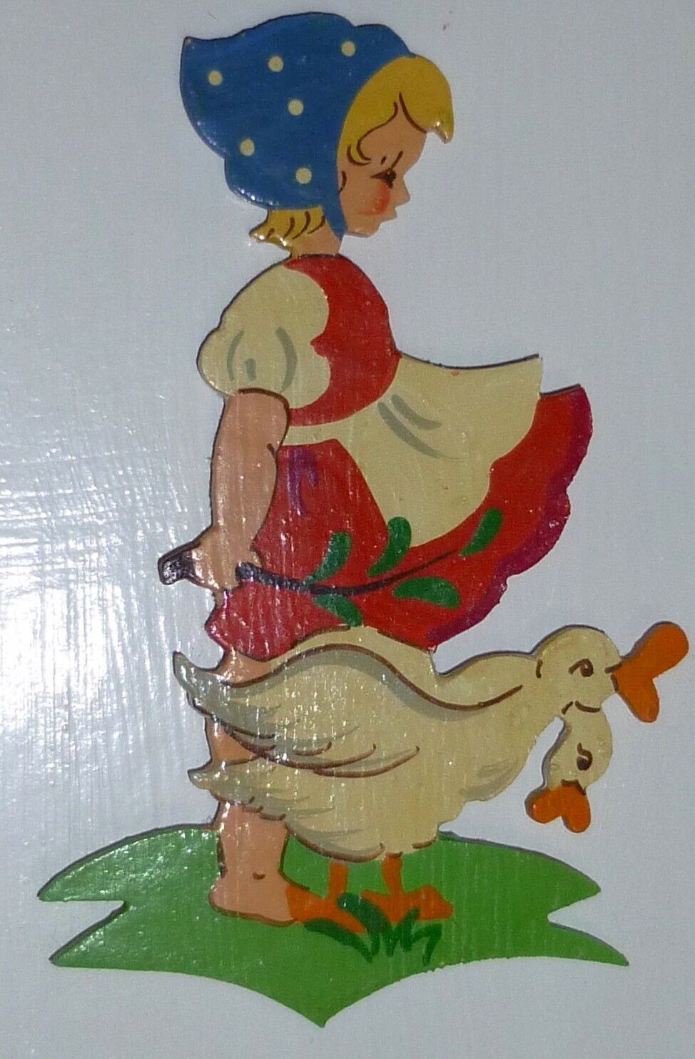 2 VINTAGE 1950s West German Folk Art Wood Fretwork Fairy Tale Female Figures EUC in Collectibles, Decorative Collectibles, Wall Hangings, Mirrors | eBay