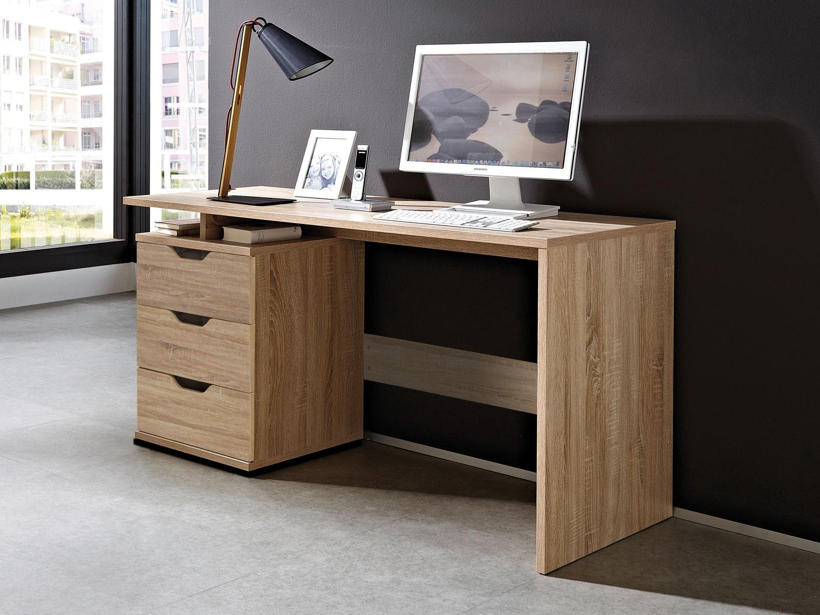 Pin By Noreddine Ben El Kardadi On Bureaux With Images Modern Home Office Furniture Desk With Drawers Desk
