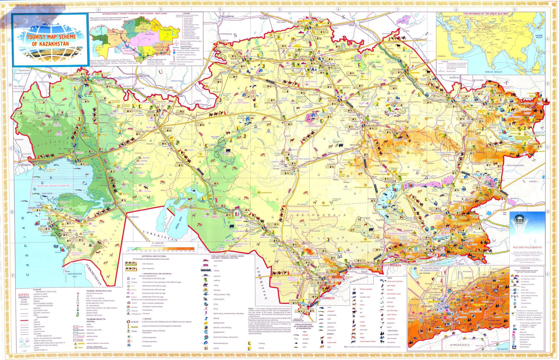 Guangzhou Ems China Map.Tourist Map Of Kazakhstan Maps And Stuff Pinterest Tourist Map