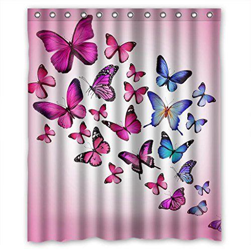Relax Pink Butterfly Purple Butterfly Pink Background Waterproof