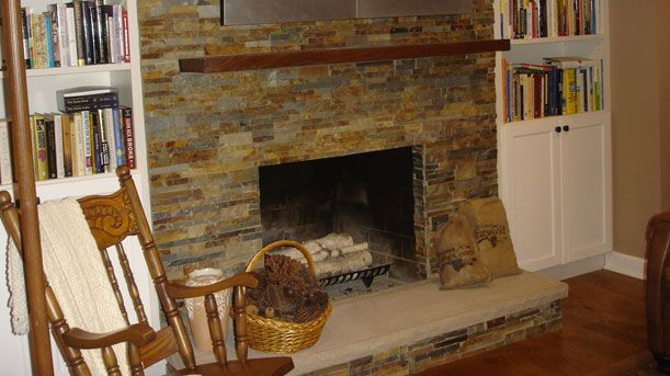 resurface fireplace | Fireplace, Home, Home decor