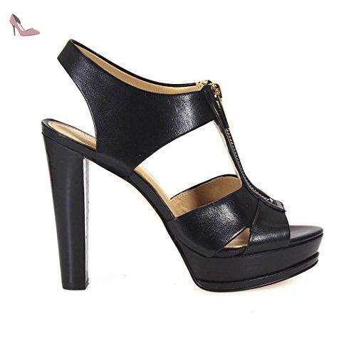 MICHAEL KORS SANDALES BISHOP PLATFORM NOIR - Chaussures michael kors (*Partner-Link)