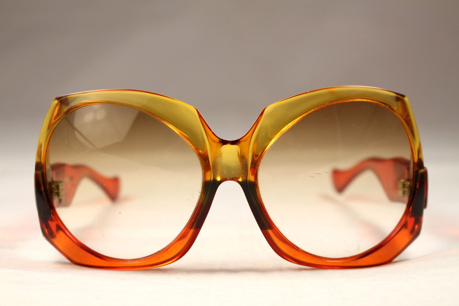 Vintage 70s Sunglasses Yves Saint Laurent Translucent Orange Color by  VintageCarwen on Etsy https:/