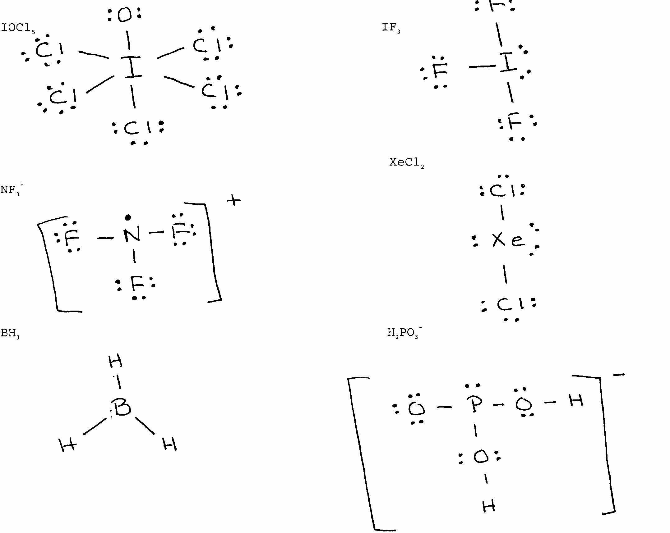 Worksheet Lewis Structure Examples