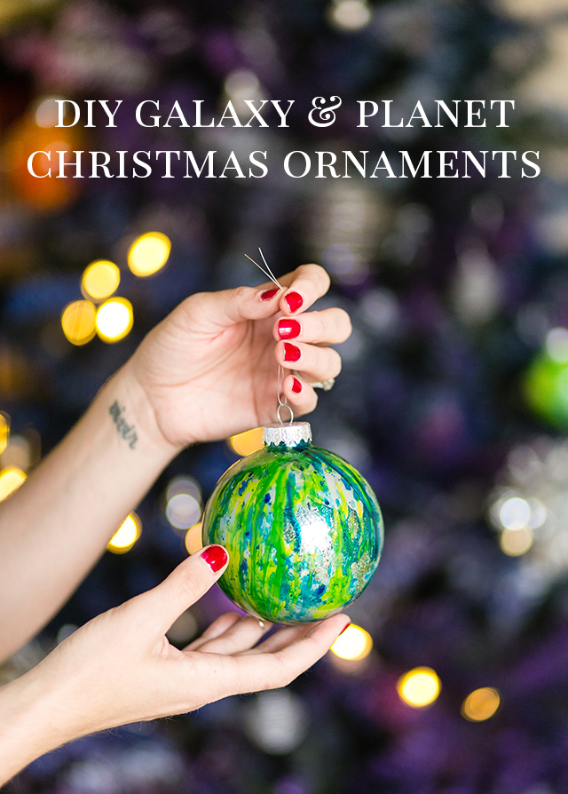 Glass Ball Ornaments Decorate Diy Galaxy And Planet Christmas Ornaments  Diy Galaxy Christmas