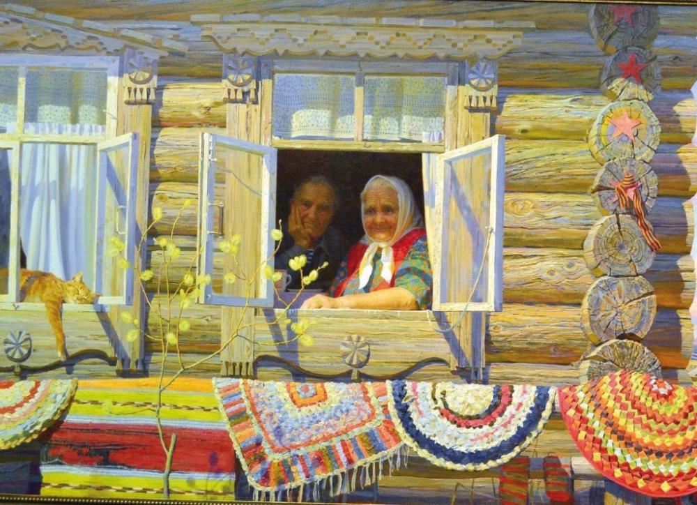 что русские избы в картинах художников привычном понимании