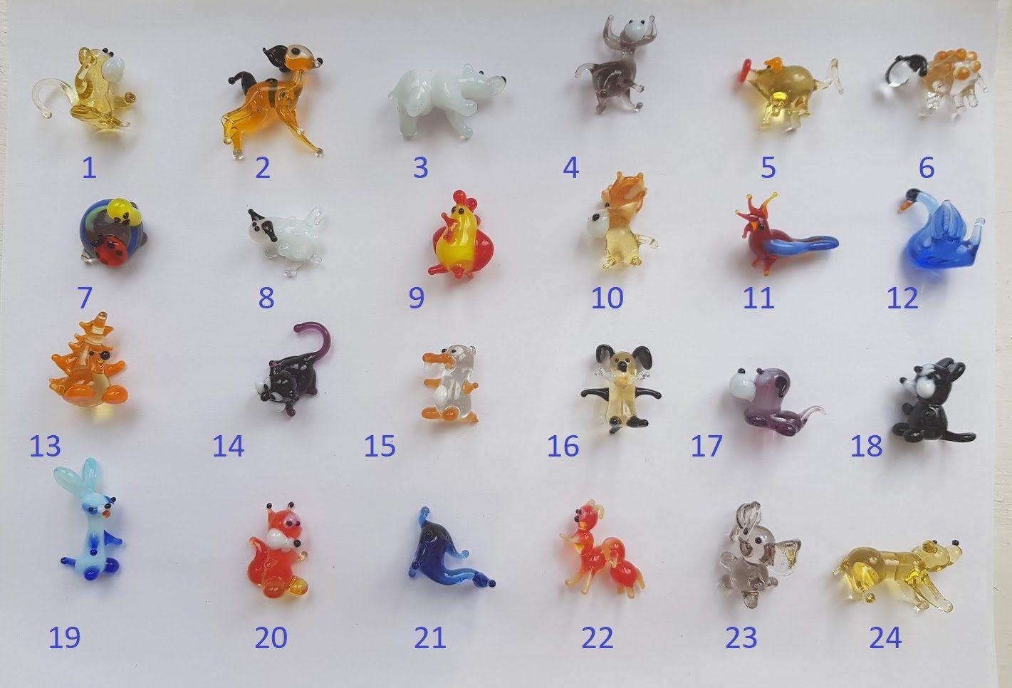 Badger mini glass figures glass figure
