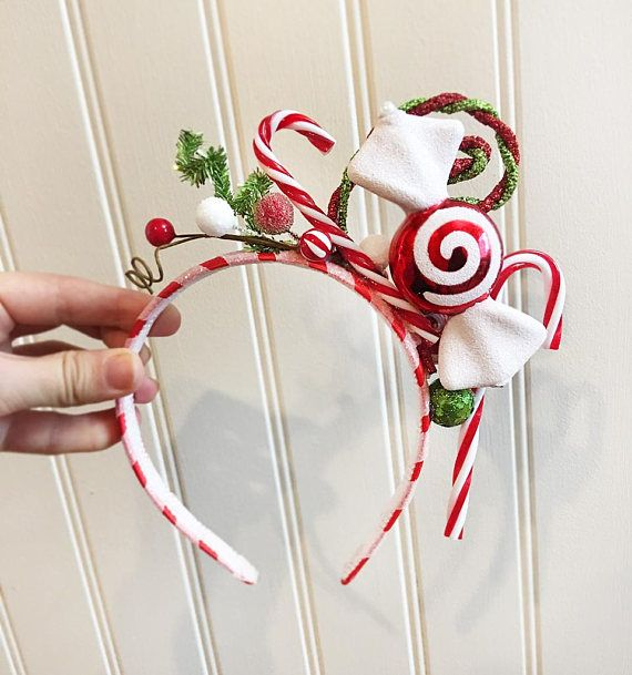 Candy cane headband whoville headband christmas headband for Candy cane crafts for adults