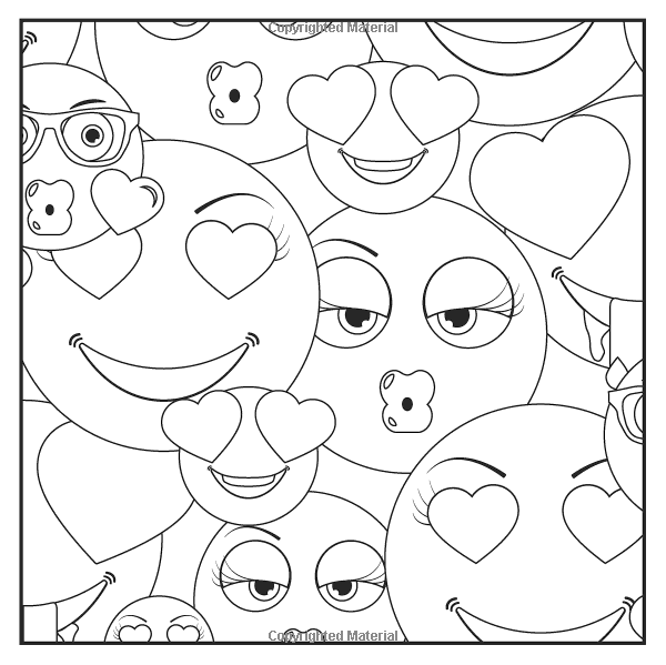 Emoji coloring book coloring pages for Emoji coloring pages