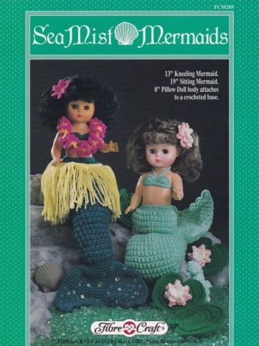 Sea Mist Mermaids Fibre Craft Crochet Doll Clothes Pattern Booklet