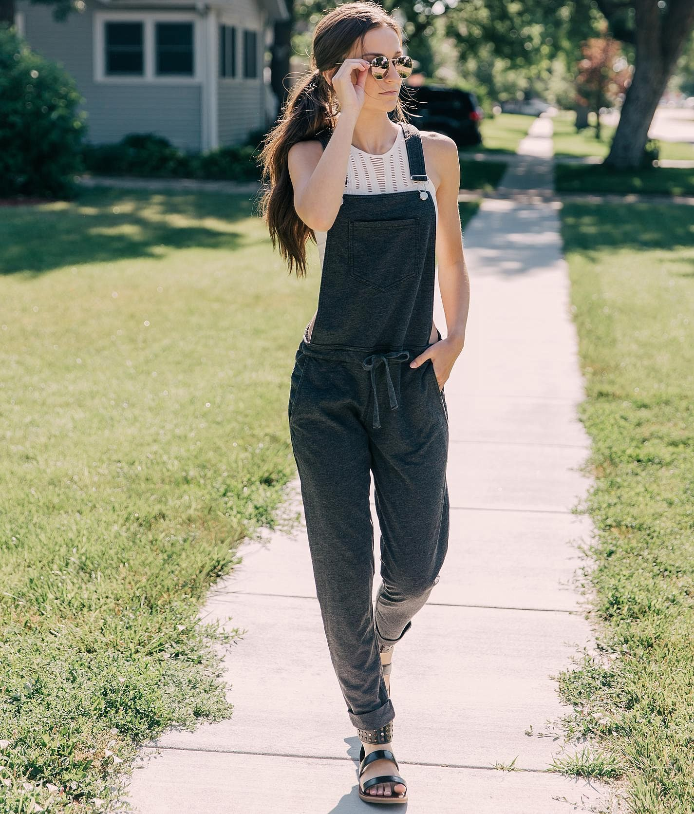919bc24b95fc White Crow The Solid Knit Overalls - Women s Rompers Jumpsuits in Black