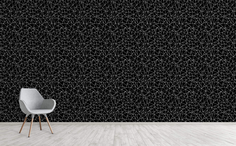 Ab Outlines Black Black Wallpaper For Walls Wall Wallpaper Black Wallpaper