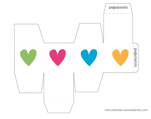 Cajas de papel para San Valentín | San valentín, Cajas y De colores