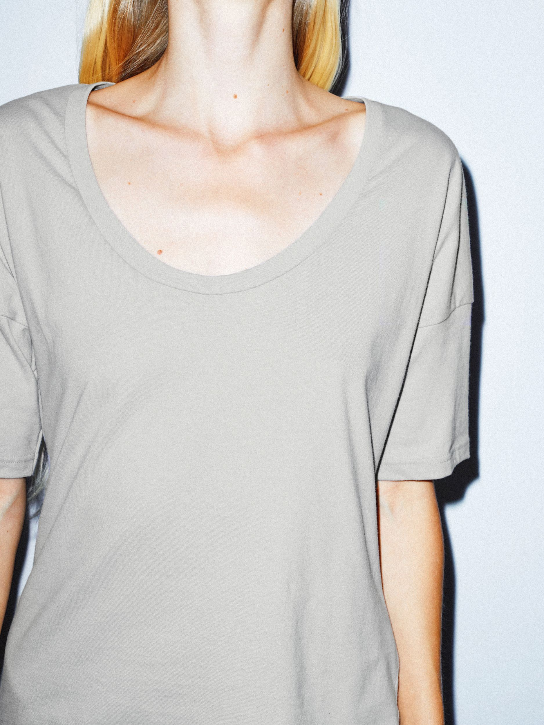 4a4afc59348e1 Power Wash U Neck T-Shirt | American Apparel | ClosetEditAnnie in ...
