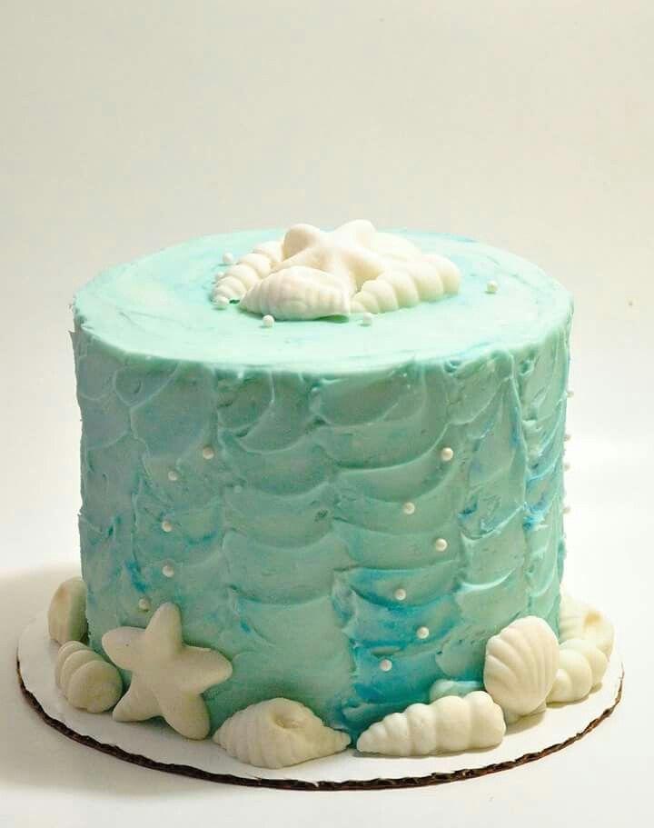 Simple Beach Ocean Themed Cake Cake Themed Cakes