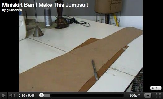 How to make a jumpsuit with a basic torso and pant pattern