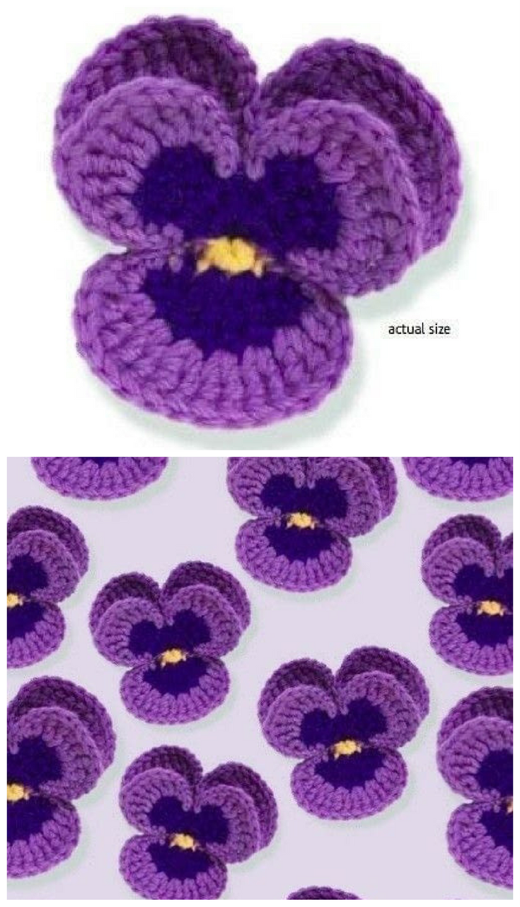 Free Pattern] This Lovely Crochet Pansy Is Perfect In Every Way ...