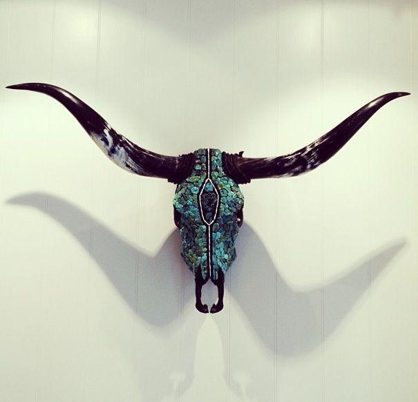 Cow Skull Decor, Longhorn Skull