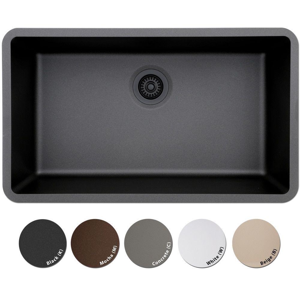 Lexicon Platinum Quartz Composite Kitchen Sink (Large Single Bowl ...