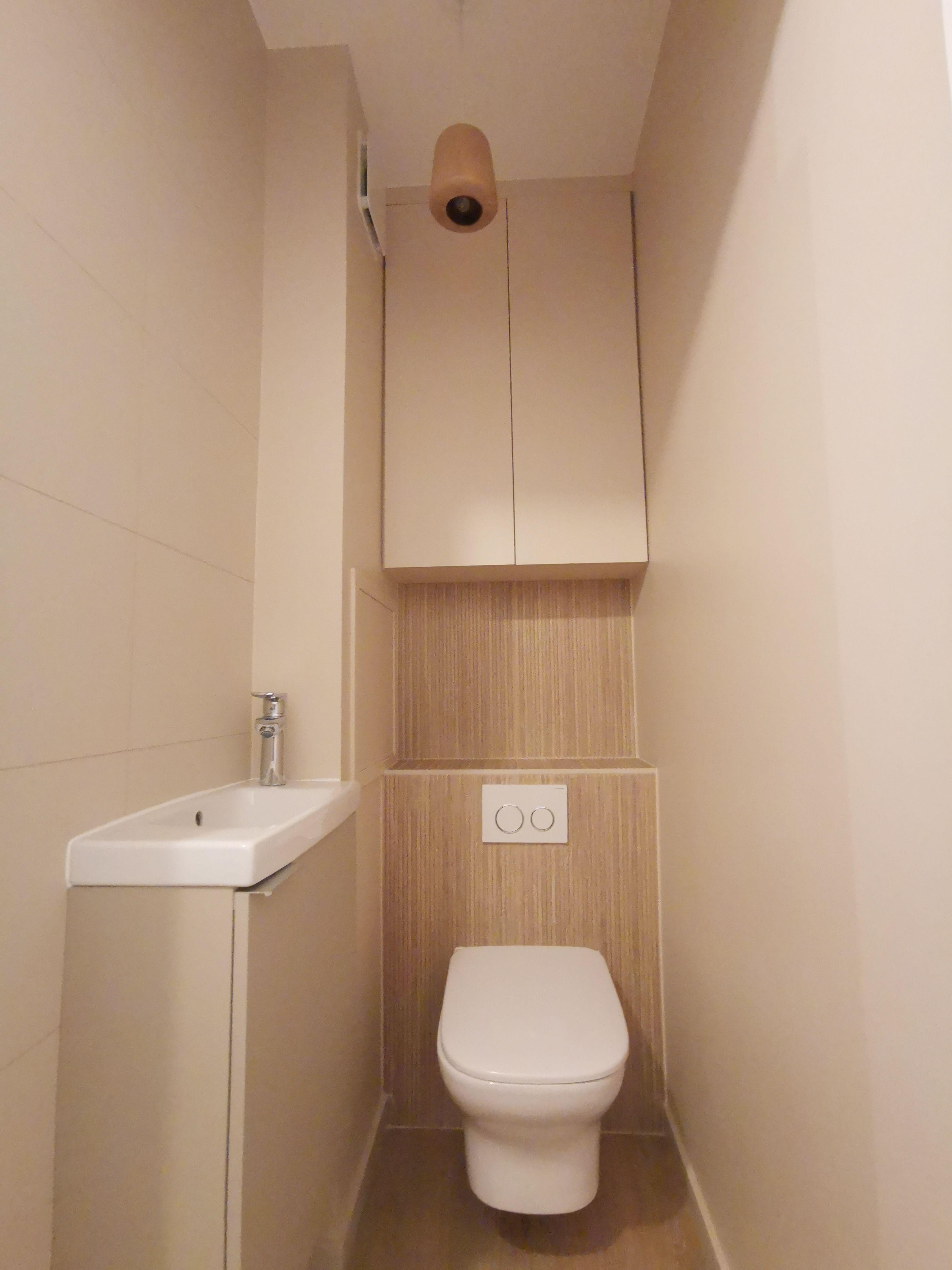 Wc Renove Par Nuance D Interieur En 2020 Meuble Wc Suspendu Amenagement Toilettes Relooking Toilettes