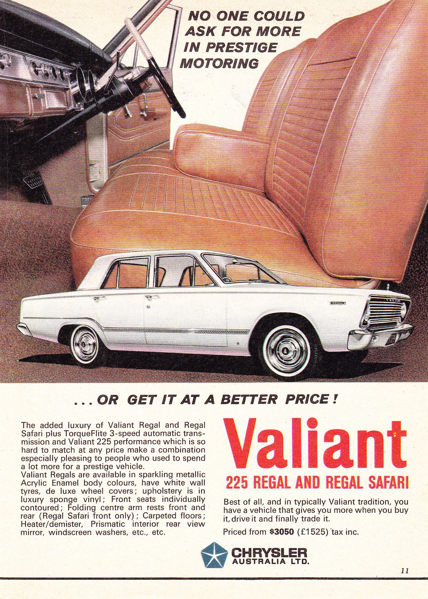 1966 Chrysler VC Valiant Ad Australia t