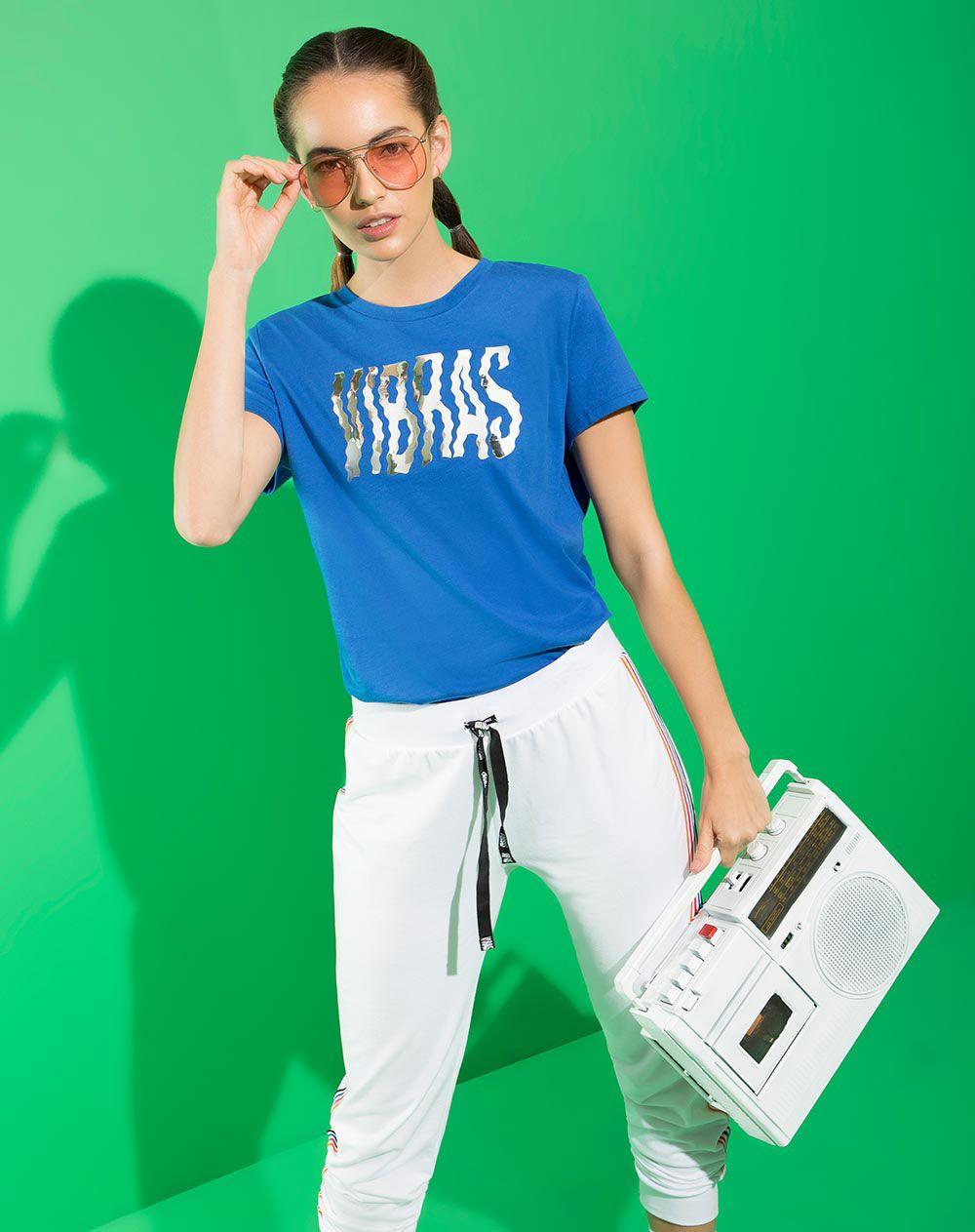 d66f281f1315 Camiseta para Mujer Bumbum Azul Rey Gef   Moda J balvin   Azul rey ...