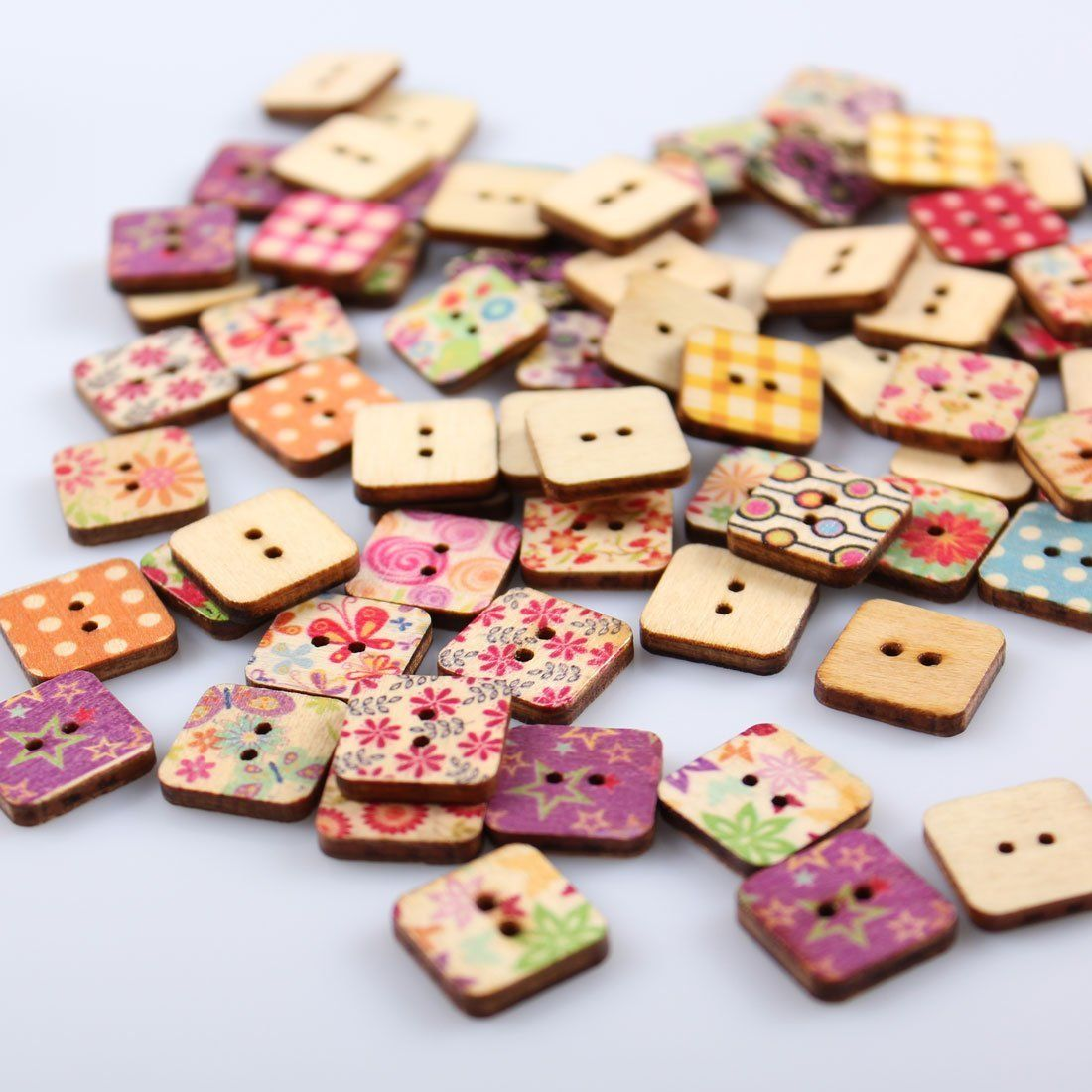 30pcs Mixed Wood Elephant 2 Hole Buttons Embellishment for DIY Sewing Craft