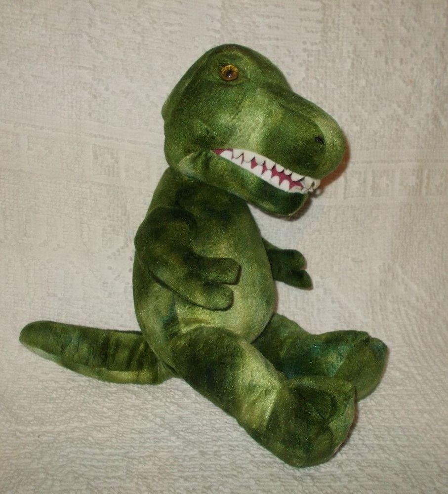 d14c09664ec Build A Bear Workshop Green T-Rex Dinosaur Puppet Stuffed Plush Animal   BuildABearWorkshop