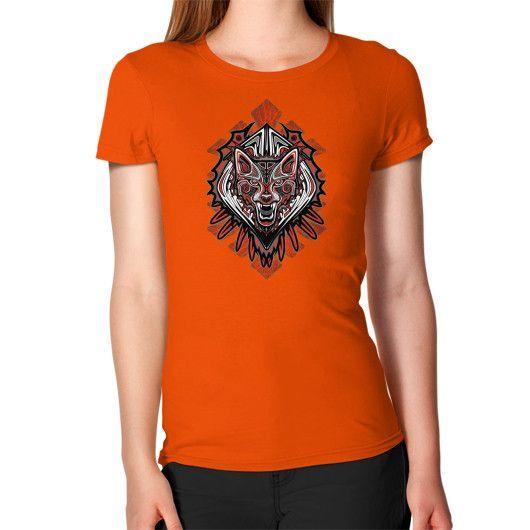 Wolf Tattoo Style Haida Art Women's T-Shirt