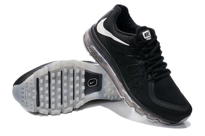 1830 : Nike Air Max 2015 Dam Herr Svart Grå Vit