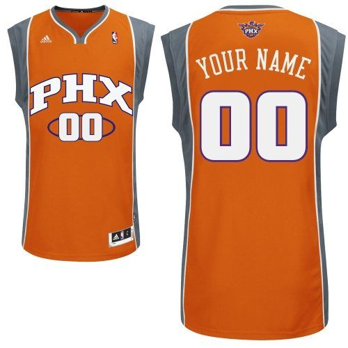 Customized Durable Polyester Swingman Phoenix Suns Nba Men Orange Adidas Alternate Jerseys Phoenix Suns Quality Fabric Nba Gear