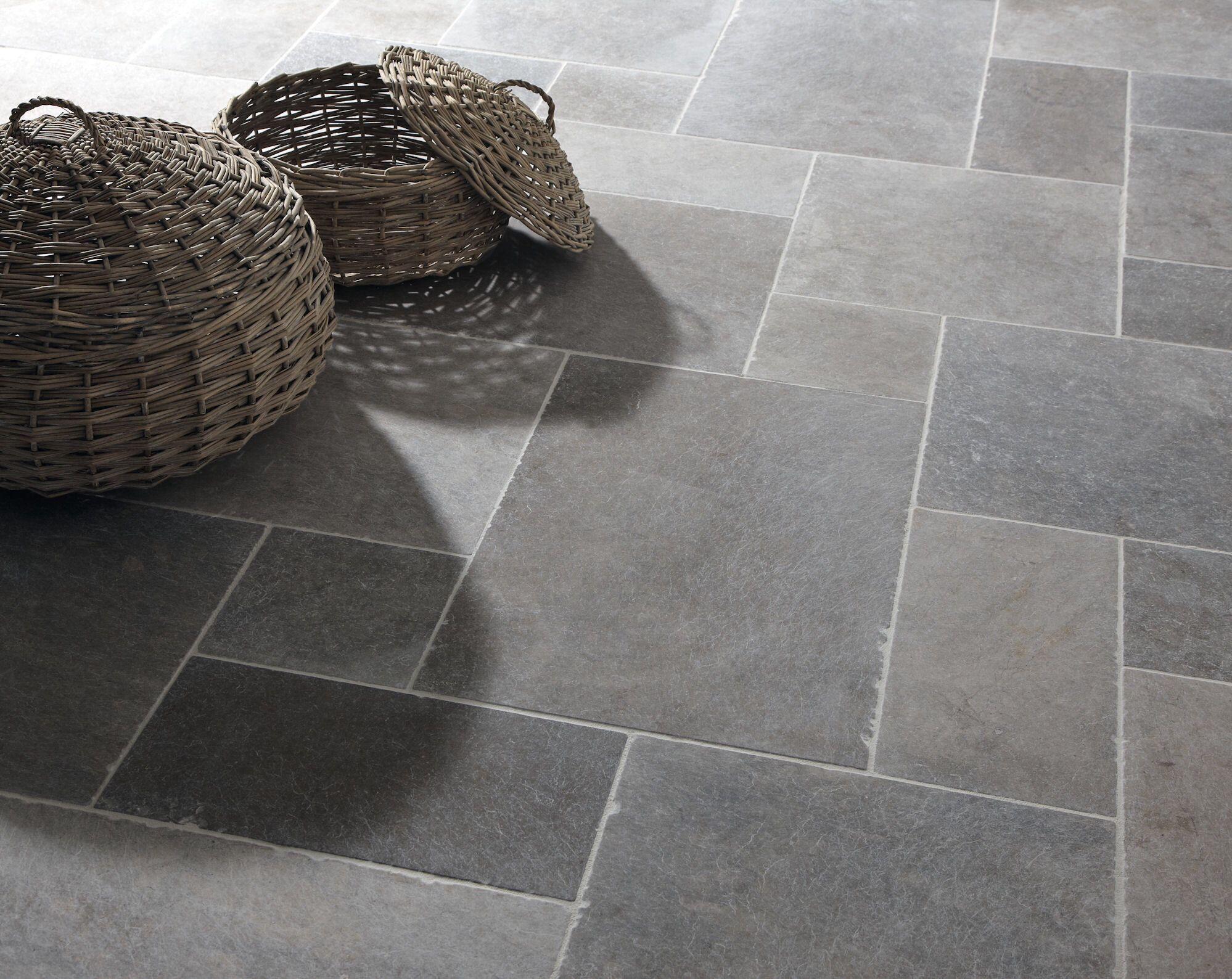 Stone Tiles For Kitchen Floor Classic London Grey Mix Tumbled Limestone Tiles Stone Mandarin