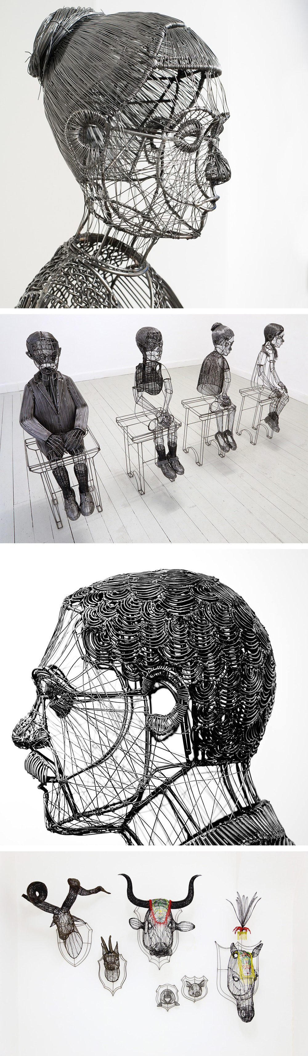 The Sculpted Wire Figures of Roberto Fanari | Sculpture | Pinterest ...
