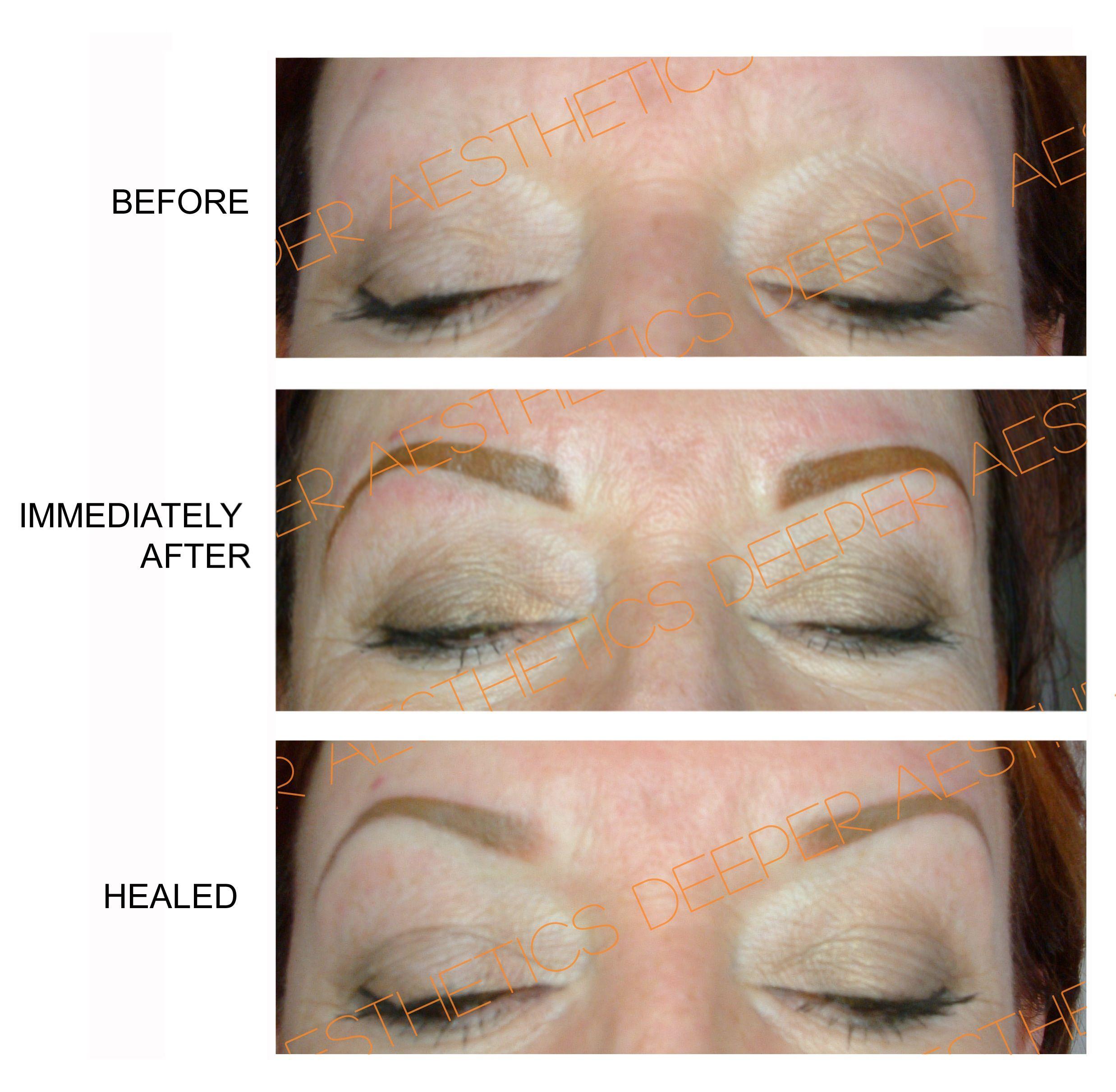 Semipermanent eyebrows. www.deeperaesthetics.co.uk Semi