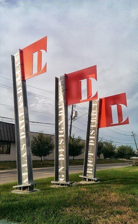 Dallas Art District Landmark Id Signage Site Landmark