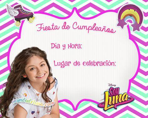 Invitaciones De Soy Luna Para Descargar Tarjetas Soy Luna
