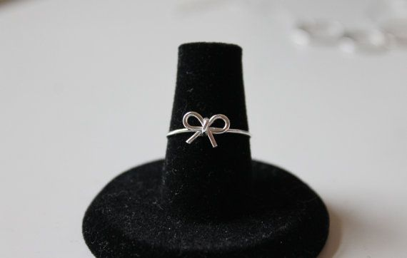 Petite Bow Ring on Etsy, $21.00
