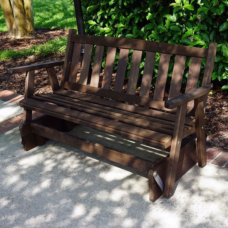 Stupendous Product Name Porchgate Amish Made Mission Cedar Glider Bench Creativecarmelina Interior Chair Design Creativecarmelinacom