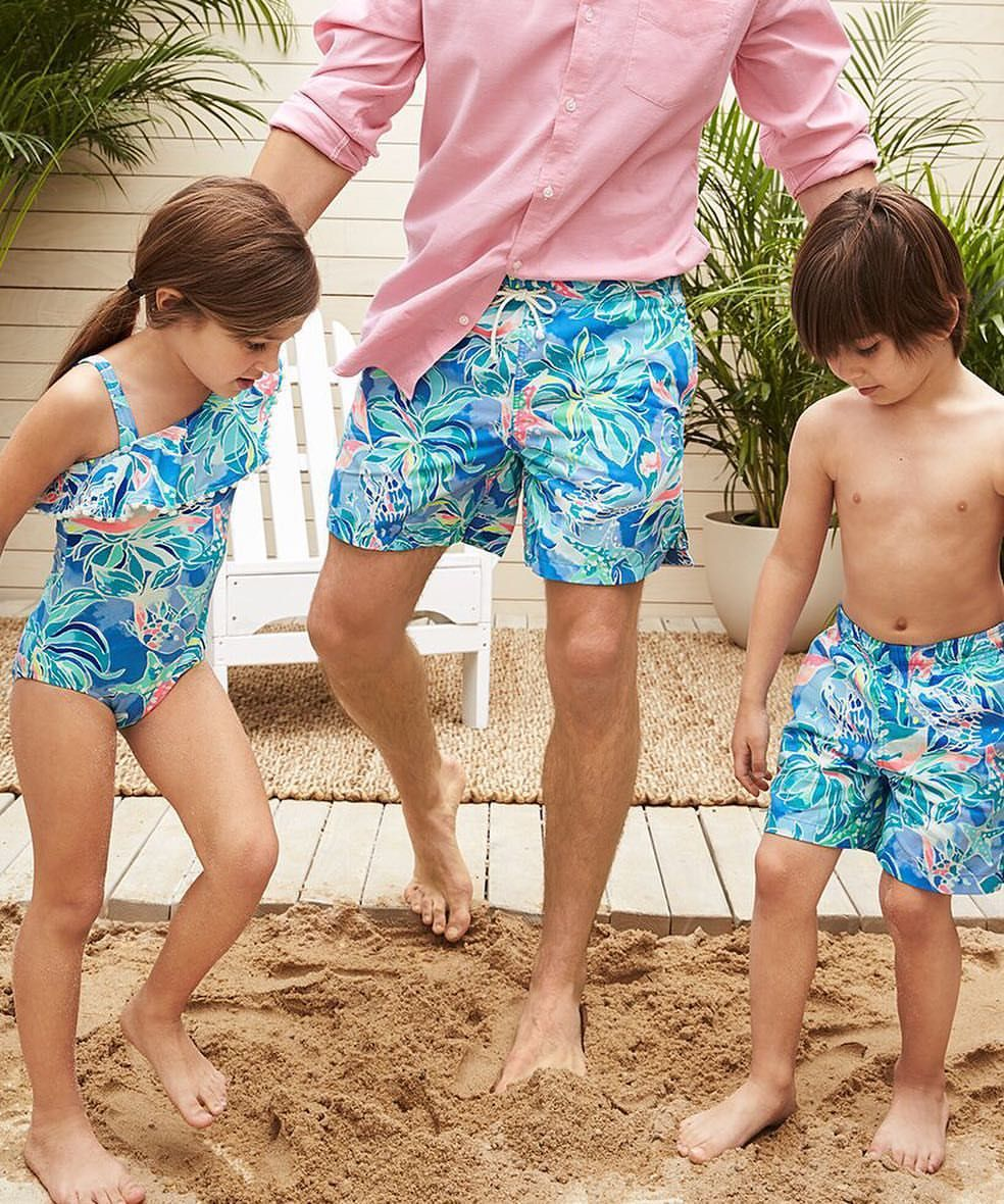 86e70cafcd6ea4 Lilly Pulitzer Swim for the Whole Family in Celestial Seas | Lilly ...