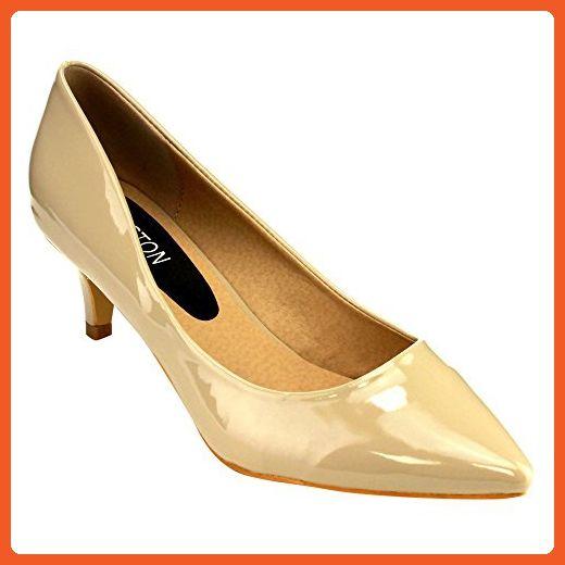31b38b0df3d5 Beston GB79 Women s Kitten Heel Closed Toe Dress Pumps About Half Size  Large