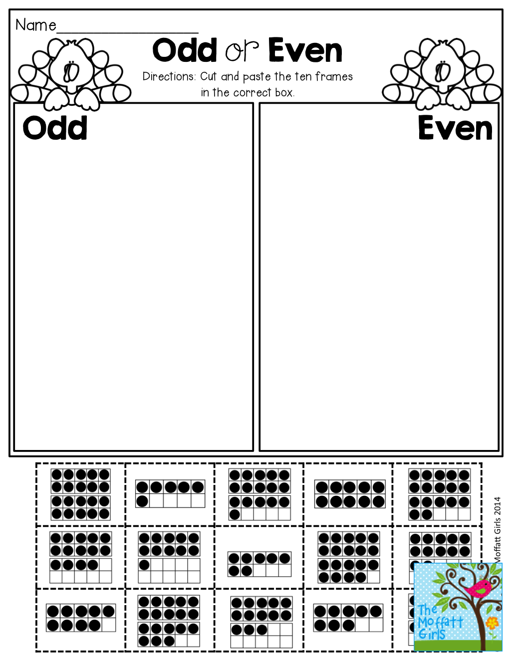 TEN FRAME cut and paste (even or odd) | Math | Pinterest ...