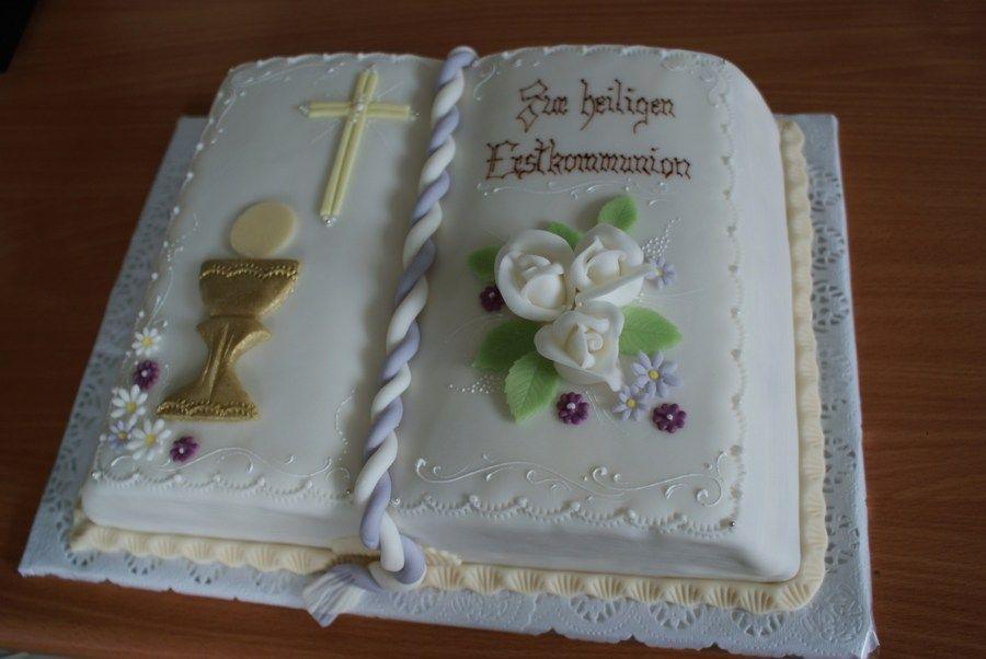 Image 900 602 Kommunion Torte Kommunionkuchen Urlaub Kuchen