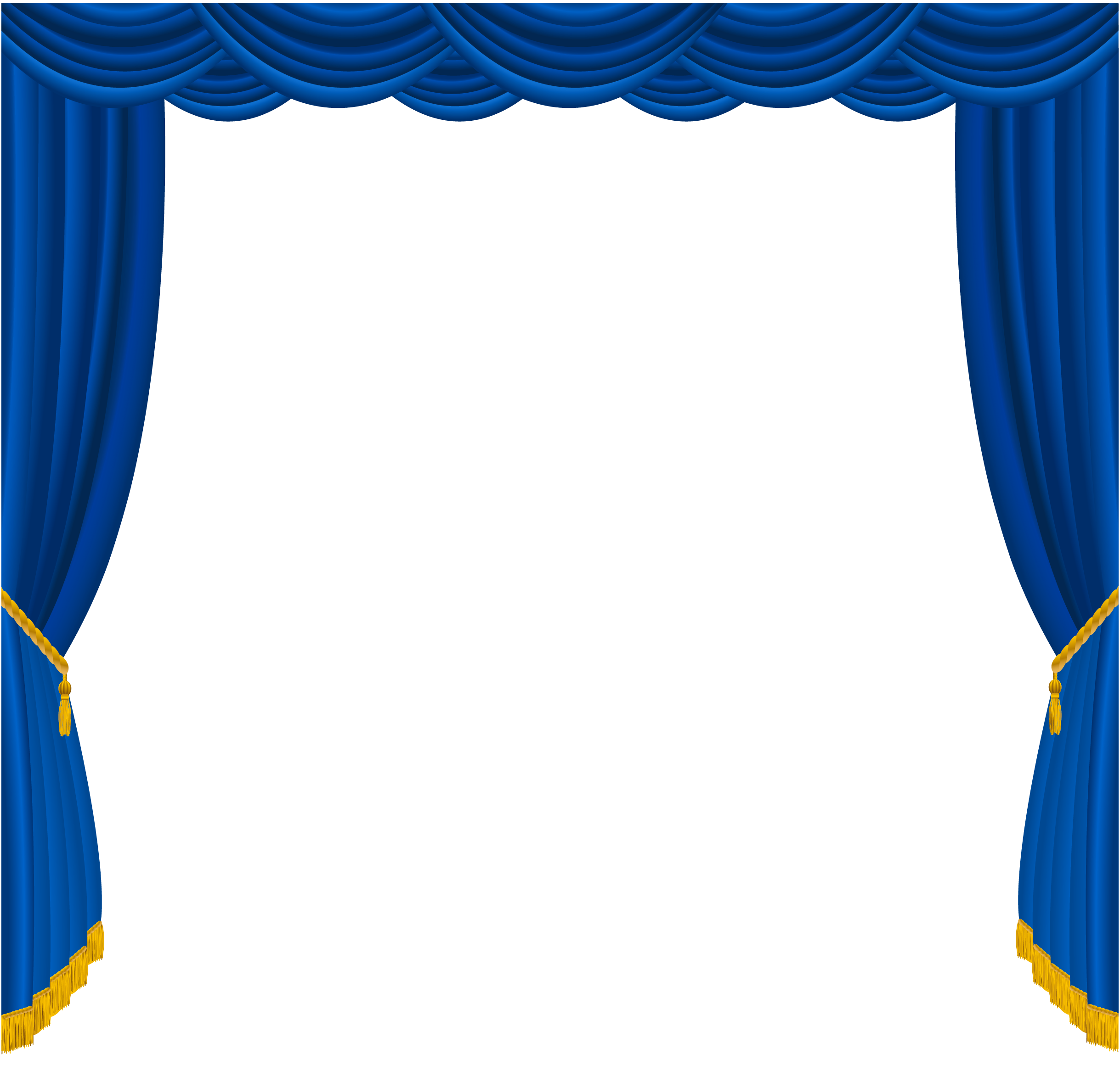 Transparent blue curtains decor png clipart gallery for Gray curtains png