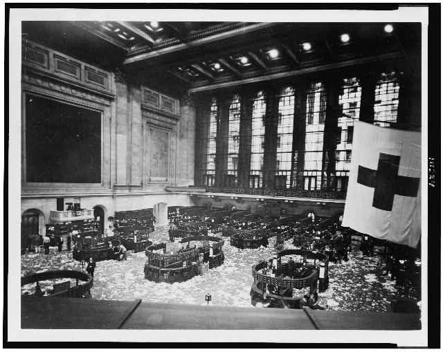 Littered Floor Of Nyse In 1920 Library Of Congress Stock