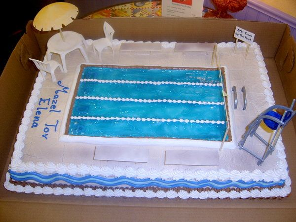 Swimming Pool Cake By The-Evil-Plankton.Deviantart.Com On