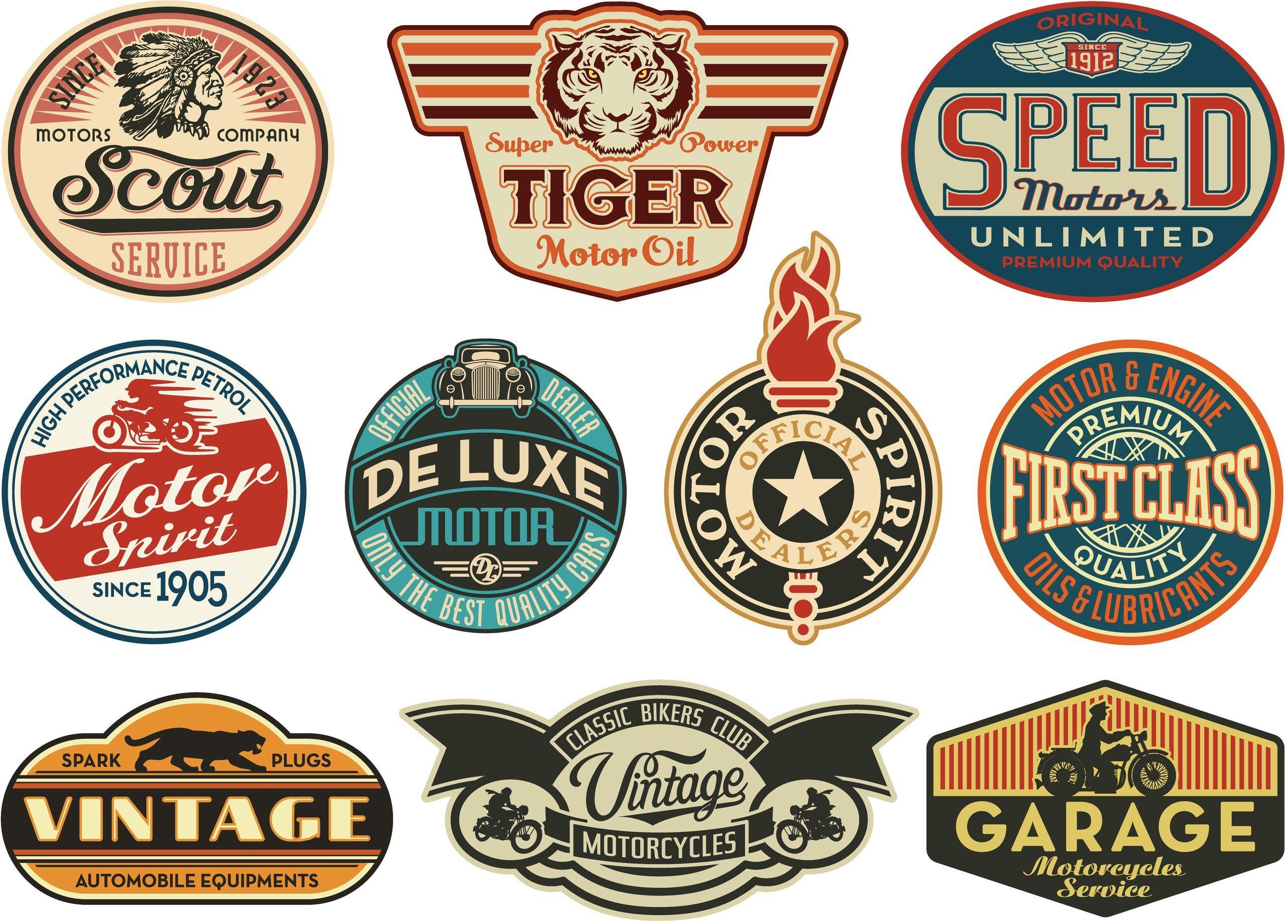 Scrapbooks Vintage Craft Art Retro Logos Vintage Logo Garage Logo