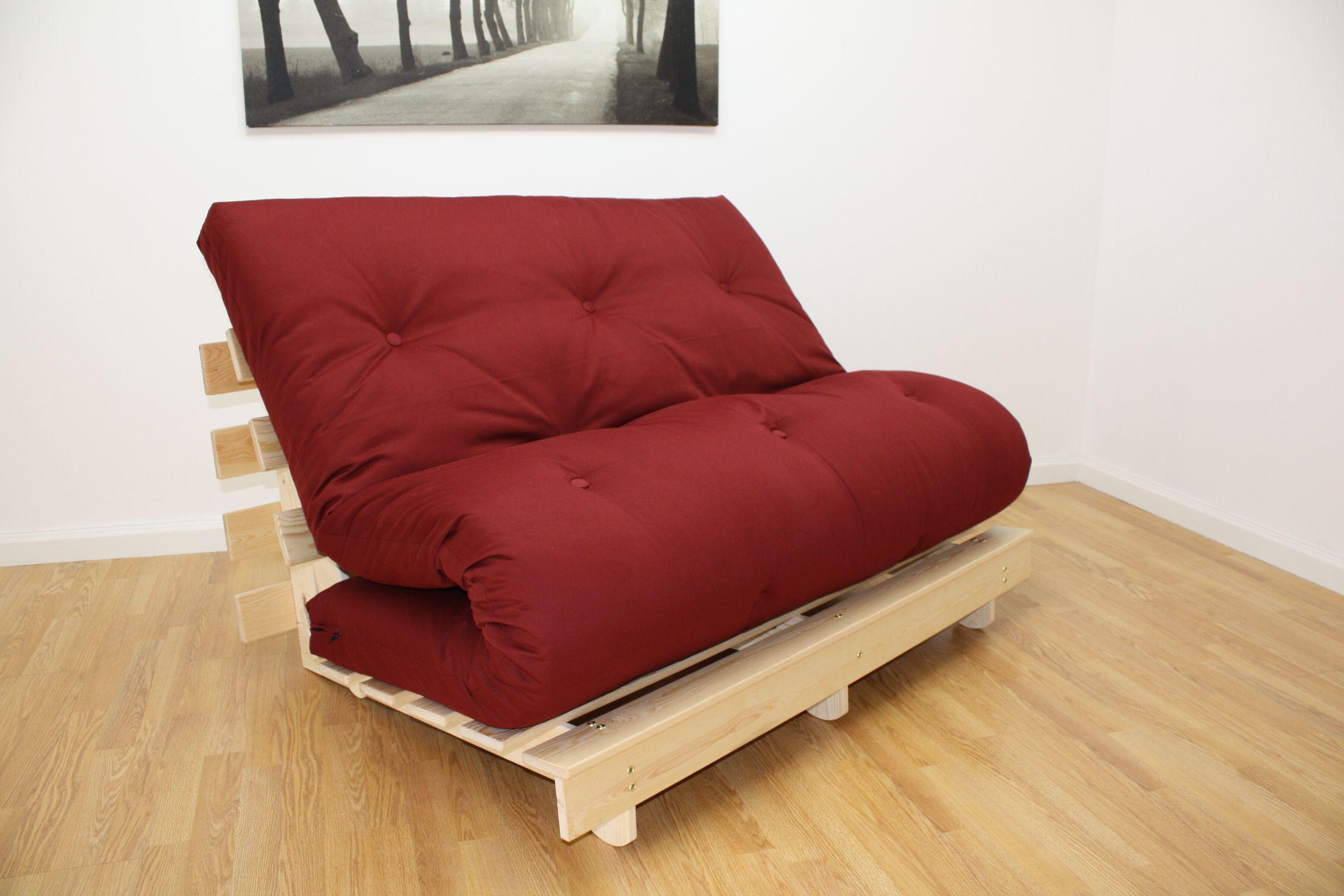 Oxford Tri Fold Pine Futon